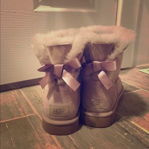 Dusty Violet Bow UGGs